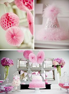 Pretty in Pink party ideas via KarasPartyIdeas.com - THE place for ALL things P