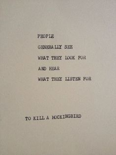 Love this book by Harper Lee. Read it once for pleasure and once for school. Both times I enjoyed!