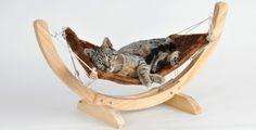 Hamac en bois pour chat - Couleur - Beige: Amazon.fr: Cuisine & Maison