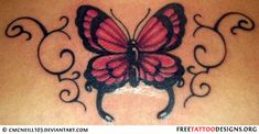Butterfly tramp stamp
