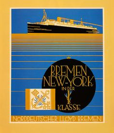 The Bremen to New York Line Ad, 1928