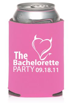 Collapsible Bachelorette Can Coolers  #koozies #cancoolers #personalized #customprinted #discountmugs