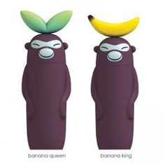 banana king and banana queen salt, pepper and spice grinders by alessi