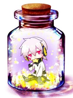 Konoha Jar art Chibi.  My favorite character in Kagerou Project (Heat Haze, in English, as I like to call it). I love how he has pink eyes, I think those look really nice on him. It's a different change of design from how most male main characters have really dark colors.