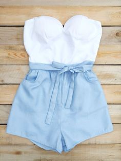 Holiday Abroad Colorblock Romper