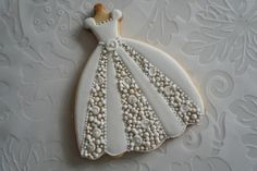 Fancy Cookies, Iced Cookies, Cute Cookies, Sugar Cookies, Onesie Cookies, Cookie Frosting, Royal Icing Cookies, Wedding Dress Cookies, Anniversary Cookies