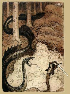 John Bauer Swedish Fairytales 14 18x17 INCHES ART PRINT