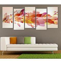Stretched Canvas Art Gorgeous Color Set of 5 – USD $ 116.99