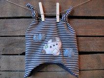 Süße Zipfelmütze aus Bio-Baumwolle für kleine Flugkapitäne und Abenteurer