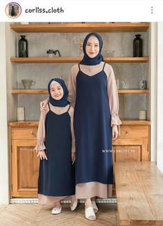 Modern Hijab Fashion, Muslim Women Fashion, Islamic Fashion, Abaya Fashion, Modest Fashion, Kids Fashion, Fashion Outfits, Dress Brokat Muslim, Muslim Dress