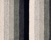 Chenille Upholstery Fabric - Black White Striped Fabric by the Yard - Textured Fabric - Charcoal Grey Chenille Yardage