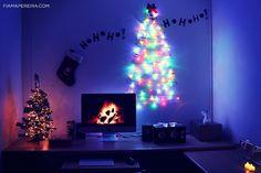 DIY Decoração de Natal   Decoração Natalina  DIY Christmas Decoration → http://fiamapereira.com/diy-decorando-o-quarto-para-o-natal/