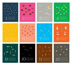 The Indigo Bunting — SALE: 2013 Stripe Calendar