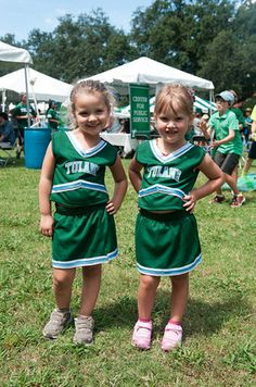4882738468 Some future Tulane cheerleaders pose in their outfits!