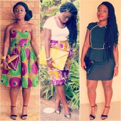 ooking back at what I wore in February... What was your favorite look? #ilovedthemall #OOTD #fashion #style #ankara #print #africanprint #nsubro #madeinghana #peplum #blackandgold #marleybraids #kinkytwists #abenalove