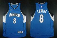 "$23.88 at ""MaryJersey""(maryjerseyelway@gmail.com) Timberwolves 8 Zach LaVine Blue Road Stitched NBA Jersey"