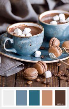 Blue Grey   Mocha   Brown warm tones Colours that inspire creativity { Beautiful Colour Palettes } fabmood.com
