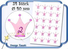selbstklebende Zahlen Adventskalender Krone von Jasuki auf DaWanda.com