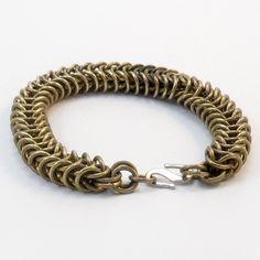 Brass Bracelet  Inca Puño Weave by RRJewelryShop on Etsy, $35.00