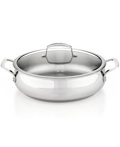 Belgique Stainless Steel 5 Qt. Covered Sauteuse