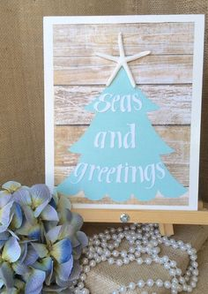 Seas and greetings coastal christmas decor by GoldenAnchorArt