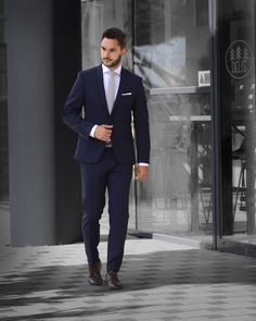 Navy blue suit is the best choice for business meeting. Check my instagram for more inspiration. Navy Blue Wool Suit, Business Meeting, Mens Suits, Formal, Check, Inspiration, Collection, Instagram, Fashion