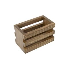 12707 Mini Vintage Crate - Stained 4x2x2.75 - the right size to store Artist Trading Cards, Mini Craft projects or a little gift basket - #gypsymoments