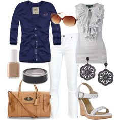 "I'd do white capris...""Untitled #174"" by bbs25 on Polyvore"
