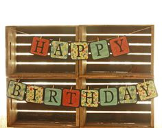 """Happy Birthday"" Banner Little Bits Homemade $20 