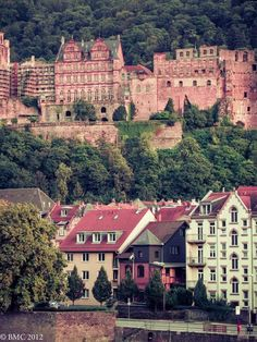 Heidelberg, Germany - Heidelberg castle. A stop on our Rhine River Cruise.
