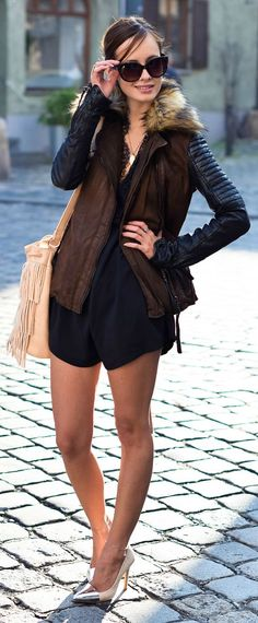 Dark Layers Outfit Idea by The Mandarine Girl