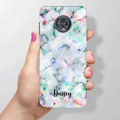 d1bfa61d6 Moto G6 Case, Moto G6 + (Plus) Case, Moto G6 Play Case, Rainbow Marble  Print, Motorola Personalised Custom Name Phone Cover - 73