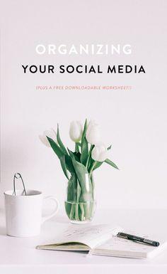 Free worksheet: ORGANIZING on social media