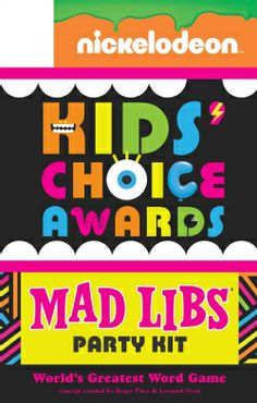 Nickelodeon Kids' Choice Awards Mad Libs Party Kit (Paperback)