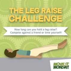 How about joining me on #MoveItMonday fitness challenge? How long do you think you can hold a leg raise? @moveitmonday