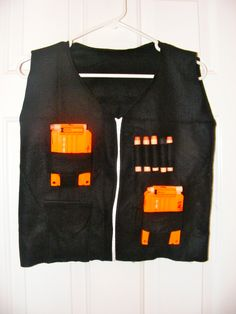 Nerf vest made out of scraps that I already had.  Cost $0.00