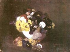 The Winter - Ion Andreescu - WikiPaintings.org Art Database, Illustrations, Pansies, Still Life, Landscape, Winter, Artwork, Paintings, Romania