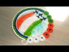Easy Rangoli Designs Videos, Rangoli Designs Flower, Rangoli Ideas, Rangoli Designs Diwali, Rangoli Designs Images, Beautiful Rangoli Designs, Mehndi Designs, Independence Day India Images, Independence Day Decoration