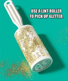 use a lint roller to clean up glitter-GENIOUS