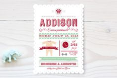 Baby Infographic Birth Announcements by Cecile Paper Lounge at minted.com