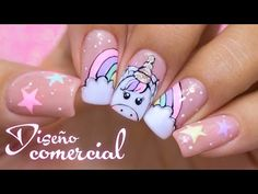 Girls Nail Designs, Cute Acrylic Nail Designs, Nail Art Designs, Unicorn Nails Designs, Unicorn Nail Art, Nails For Kids, Girls Nails, Acrylic Nails Coffin Pink, Thanksgiving Nail Designs