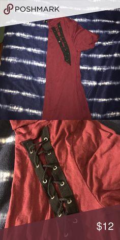 burgundy and black tunic burgundy and black lattice tunic Windsor Tops Tunics