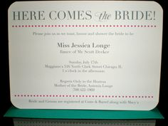 anyone planning a bridal shower?