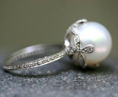 Cathy Waterman Pearl Ring