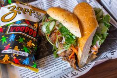 Charming New Sandwich Spot In Bed Stuy Slinging Both Po' Boys And Banh Mi: Gothamist Sandwich Spot, Bed Stuy, Nyc Restaurants, Pulled Pork, New Orleans, Sandwiches, Ethnic Recipes, Boys, Shredded Pork