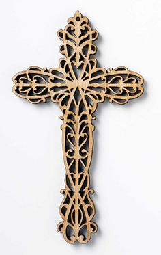 cross for a t shirt Wooden Crosses, Crosses Decor, Wall Crosses, Cross Patterns, Scroll Saw Patterns, Old Rugged Cross, Baumgarten, Laser Art, Cross Art