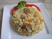Zöldséges rizseshús Cukor, Food, Hungarian Recipes, Eten, Meals, Diet
