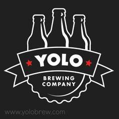 #yolobrew Yolo Brewing Company logo on black background....Gonna look great on Yolo Brewing Company gear. #craftbrew #westsacramento
