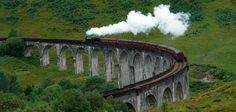 Jacobite steam train over the Glenfinnan Viaduct (Hogwarts Express route), Scotland