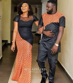 Latest Ankara Styles For Couples in 2018 - Wedding Digest Naija Couples African Outfits, African Dresses Men, African Clothing For Men, African Shirts, Latest African Fashion Dresses, Couple Outfits, African Print Fashion, Africa Fashion, African Attire